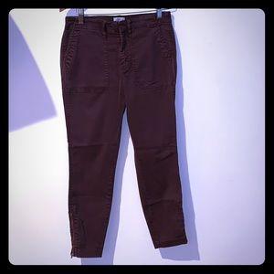 J. Crew Skinny Stretch Cargo Pants w/ zippers